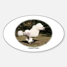 Standard Poodle Oval Decal
