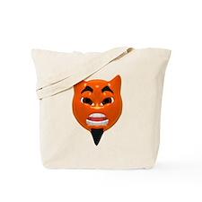Mean Devil Face Tote Bag