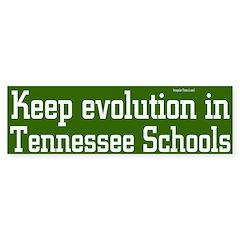 Evolution in Tennessee Bumper Bumper Sticker