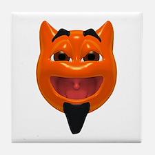 Happy Devil Face Tile Coaster