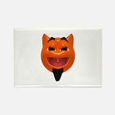 Happy Devil Face Rectangle Magnet