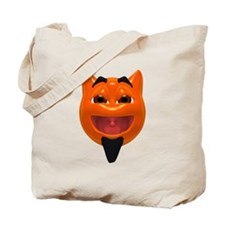 Happy Devil Face Tote Bag