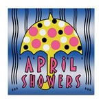 APRIL SHOWERS Tile Coaster