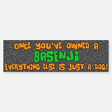 Just a Dog Basenji Bumper Bumper Bumper Sticker