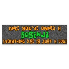 Just a Dog Basenji Bumper Bumper Sticker