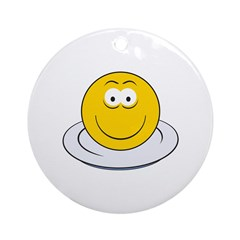 Smiley Face For Dinner Ornament (Round)