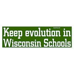 Keep Wisconsin Evolution Bumpersticker