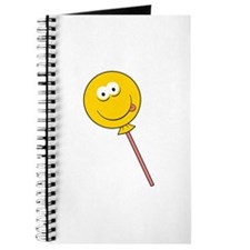 Lollipop/Sucker Smiley Face Journal