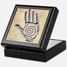 Granite Petroglyph Hand Keepsake Box
