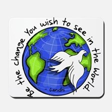 World Peace Gandhi - Funky Stroke Mousepad