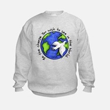 World Peace Gandhi - Funky Stroke Sweatshirt