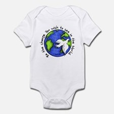 World Peace Gandhi - Funky Stroke Infant Bodysuit