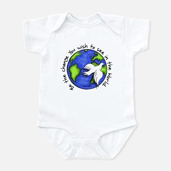 World Peace Gandhi - Funky Stroke Infant Bodysuit