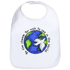 World Peace Gandhi - Funky Stroke Bib