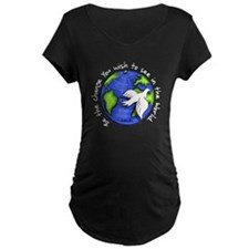 World Peace Gandhi - Funky Stroke T-Shirt
