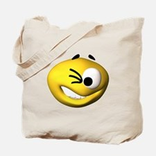 Goofy Winking Face Tote Bag