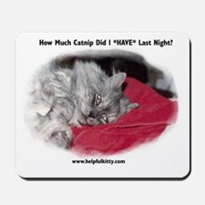 Hungover Helpful Kitty Mousepad