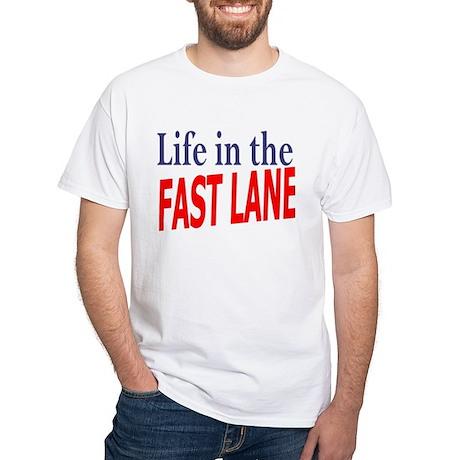 Fast Lane White T-Shirt