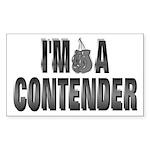 I'm A Contender Rectangle Sticker