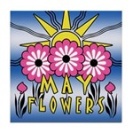 MAY FLOWERS Tile Coaster