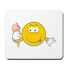 Ice Cream Cone Smiley Face Mousepad