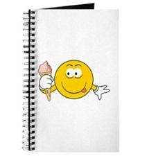 Ice Cream Cone Smiley Face Journal