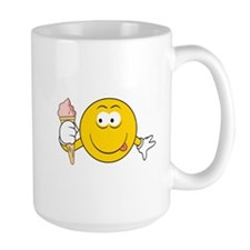 Ice Cream Cone Smiley Face Mug