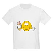 Ice Cream Cone Smiley Face T-Shirt