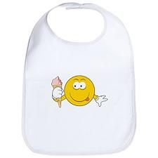 Ice Cream Cone Smiley Face Bib