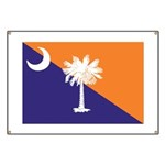 Orange Purple SC Flag Banner