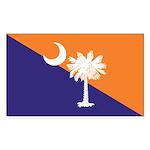 Orange Purple SC Flag Rectangle Sticker 10 pk)