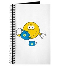 Tea Party Smiley Face Journal