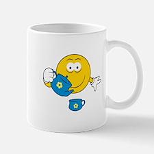 Tea Party Smiley Face Mug