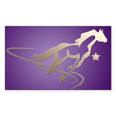 Wishes for Horses Rectangle Sticker