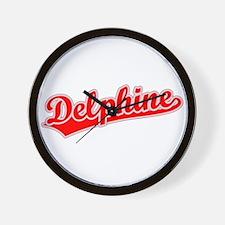 Retro Delphine (Red) Wall Clock