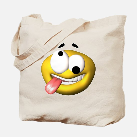Silly Tongue Out Face Tote Bag