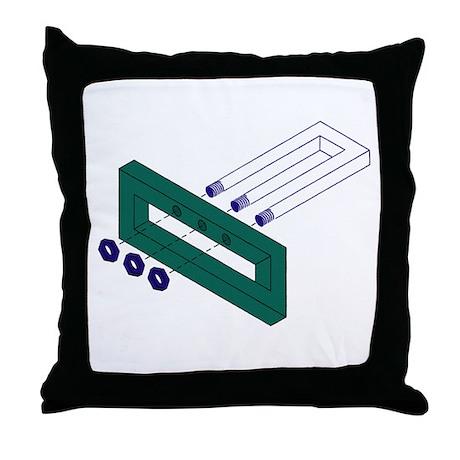 Fork Illusion Throw Pillow