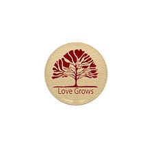 Love Grows Mini Button