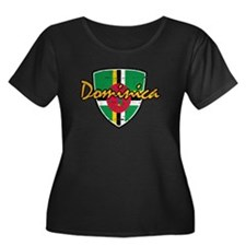 Dominica distressed Flag T