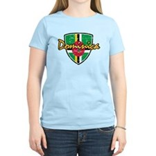 Dominica distressed Flag T-Shirt