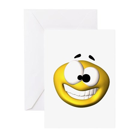 Goofy Happy Face Greeting Cards (Pk of 20)