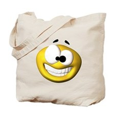 Goofy Happy Face Tote Bag