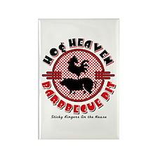 Hog Heaven BBQ Pit Rectangle Magnet (10 pack)