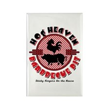 Hog Heaven BBQ Pit Rectangle Magnet