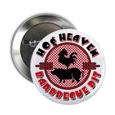 "Hog Heaven BBQ Pit 2.25"" Button"