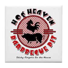 Hog Heaven BBQ Pit Tile Coaster