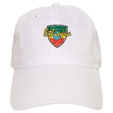 Ethiopia distressed flag Baseball Cap