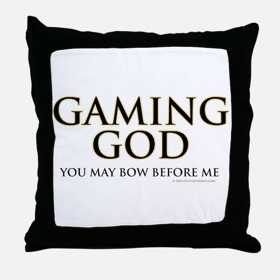 Gaming God Throw Pillow