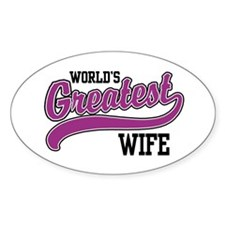 World's Greatest Wife Oval Decal