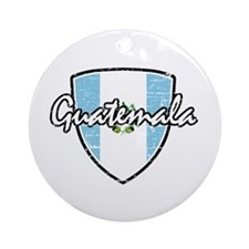 Guatemala distressed Flag Ornament (Round)